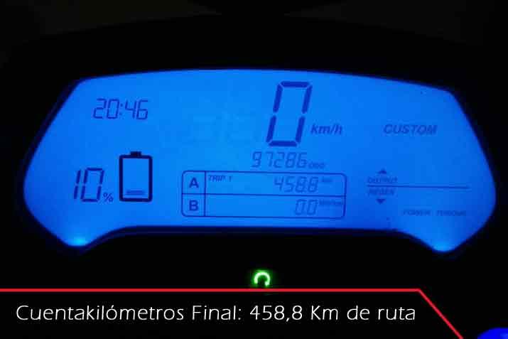 450km en moto eléctrica