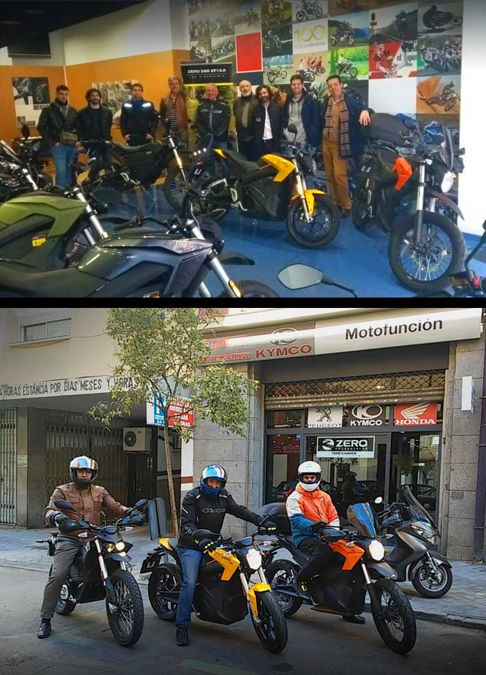 Probar Zero Motorcycles Madrid